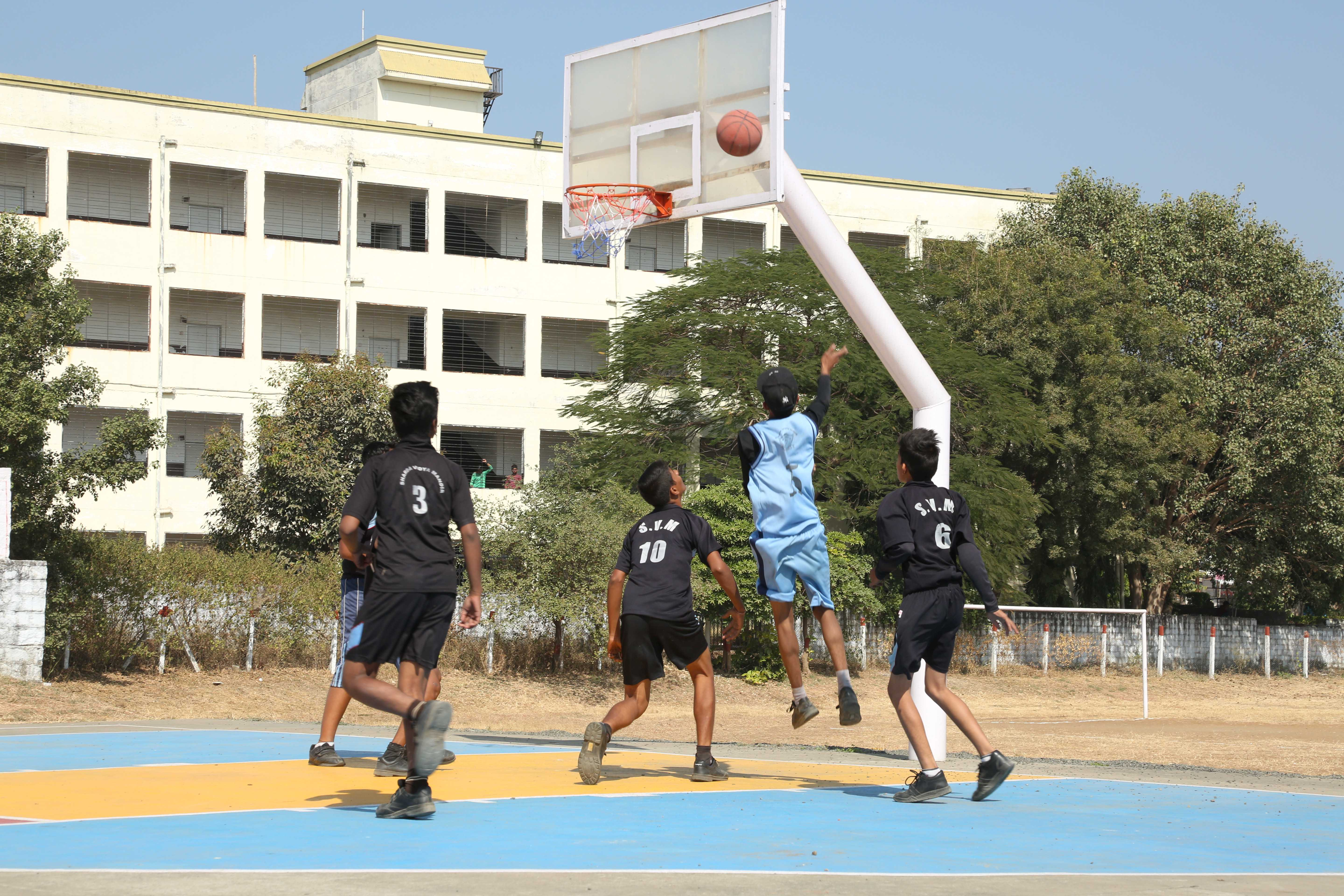 best school in bhopal basket ball